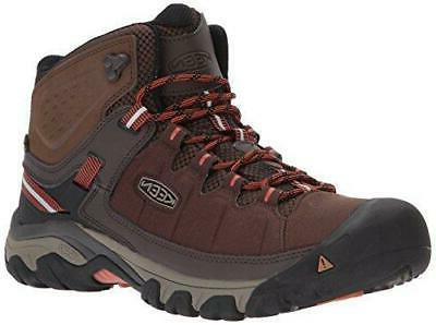 KEEN Men's Targhee Exp Mid Wp Hiking Boot Mulch/Burnt Ochre