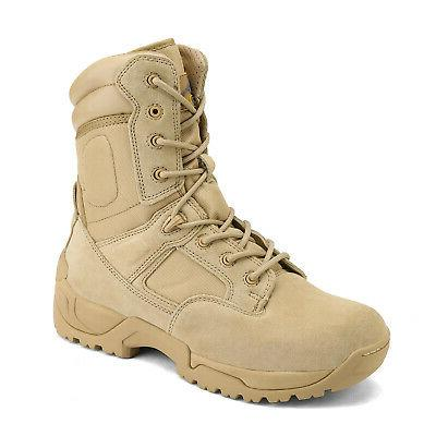 NORTIV Military Tactical Boots Hiking Motorcycle