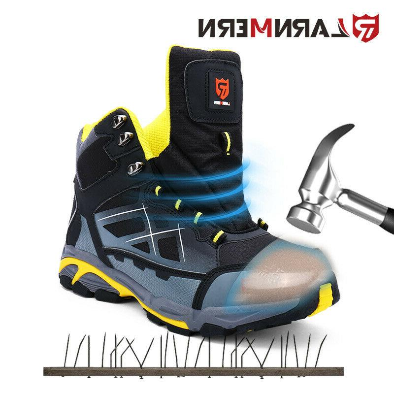 LARNMERN Work Boots Outdoors Waterproof Safety Shoes