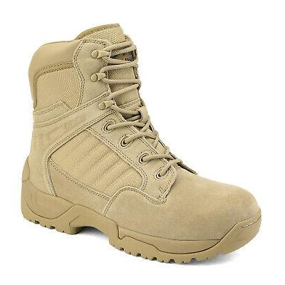 Tactical Work Boots Side Zip Ankle Hiking Boots