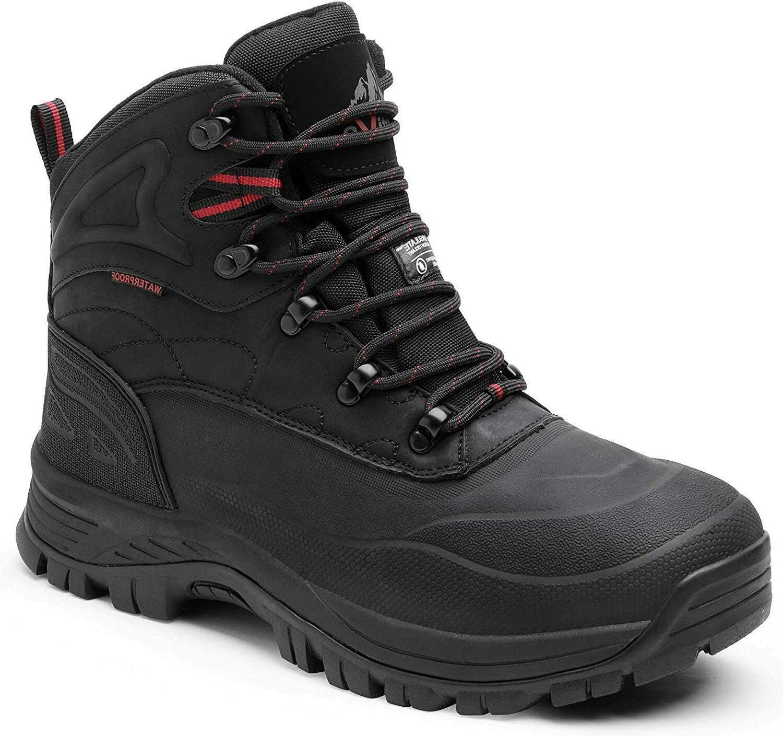 men winter snow boots outdoor waterproof ankle