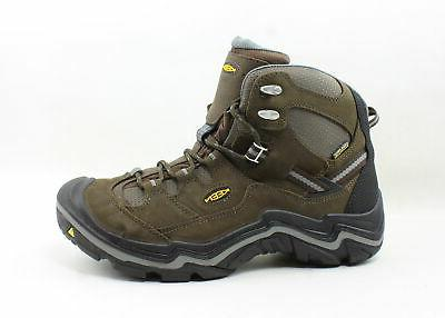 mens durand brown hiking boots size 10