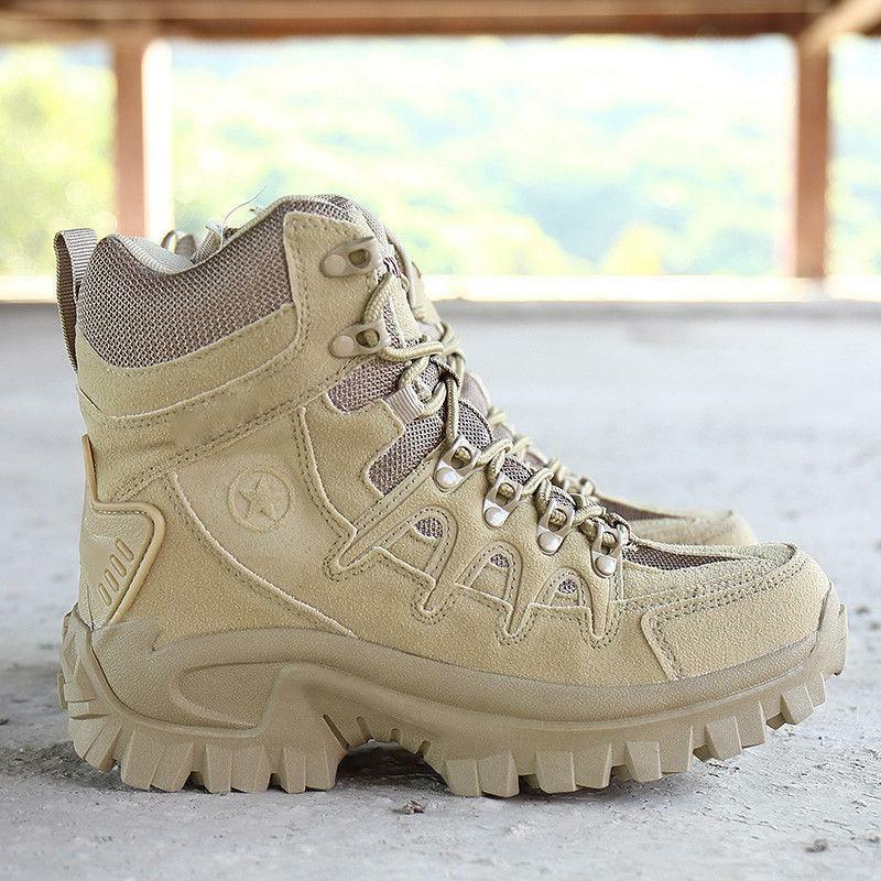 Mens High Military Tactical Desert Army Hiking Combat Boots