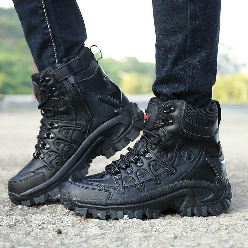 Mens Top Tactical Boots Hiking Combat Ankle