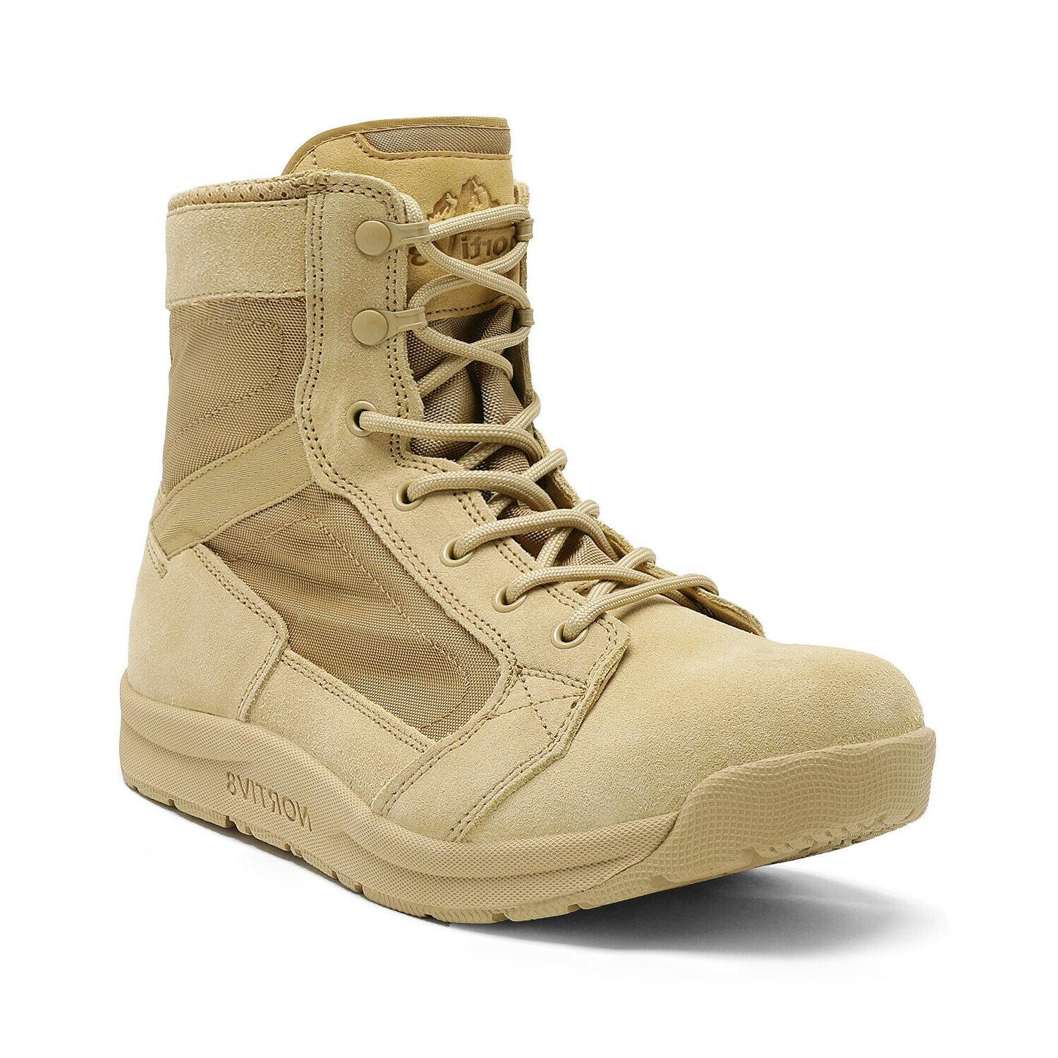 Mens Tactical Army Boots Lightweight Hiking Work Shoe