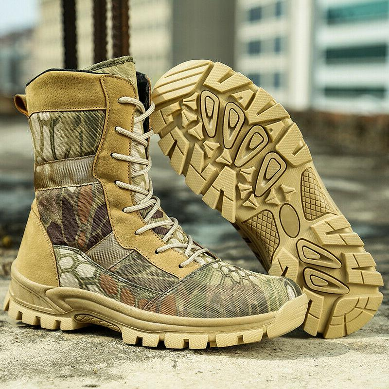 Mens Combat Boots Army Motorcycl Work