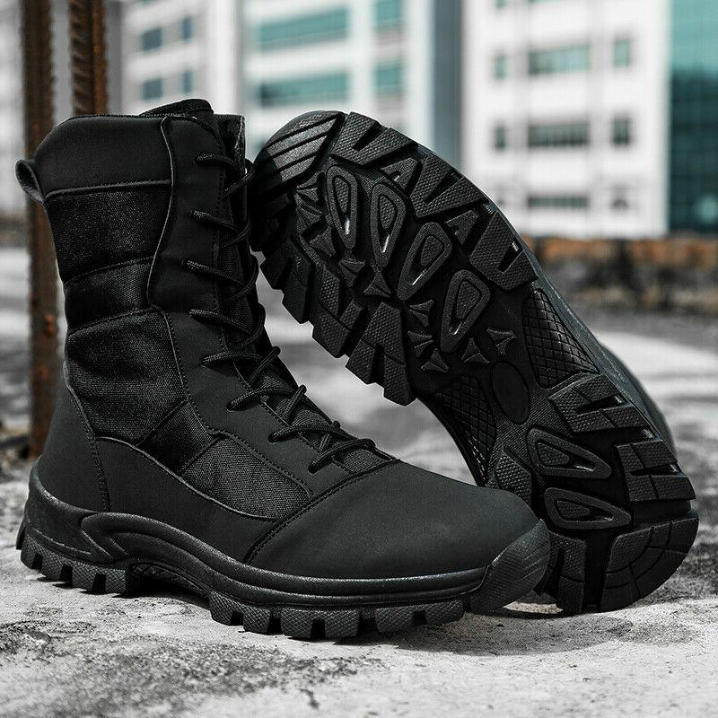 Mens Military Combat Boots Lightweight Motorcycl