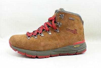 mens mountain 600 brown red hiking boots