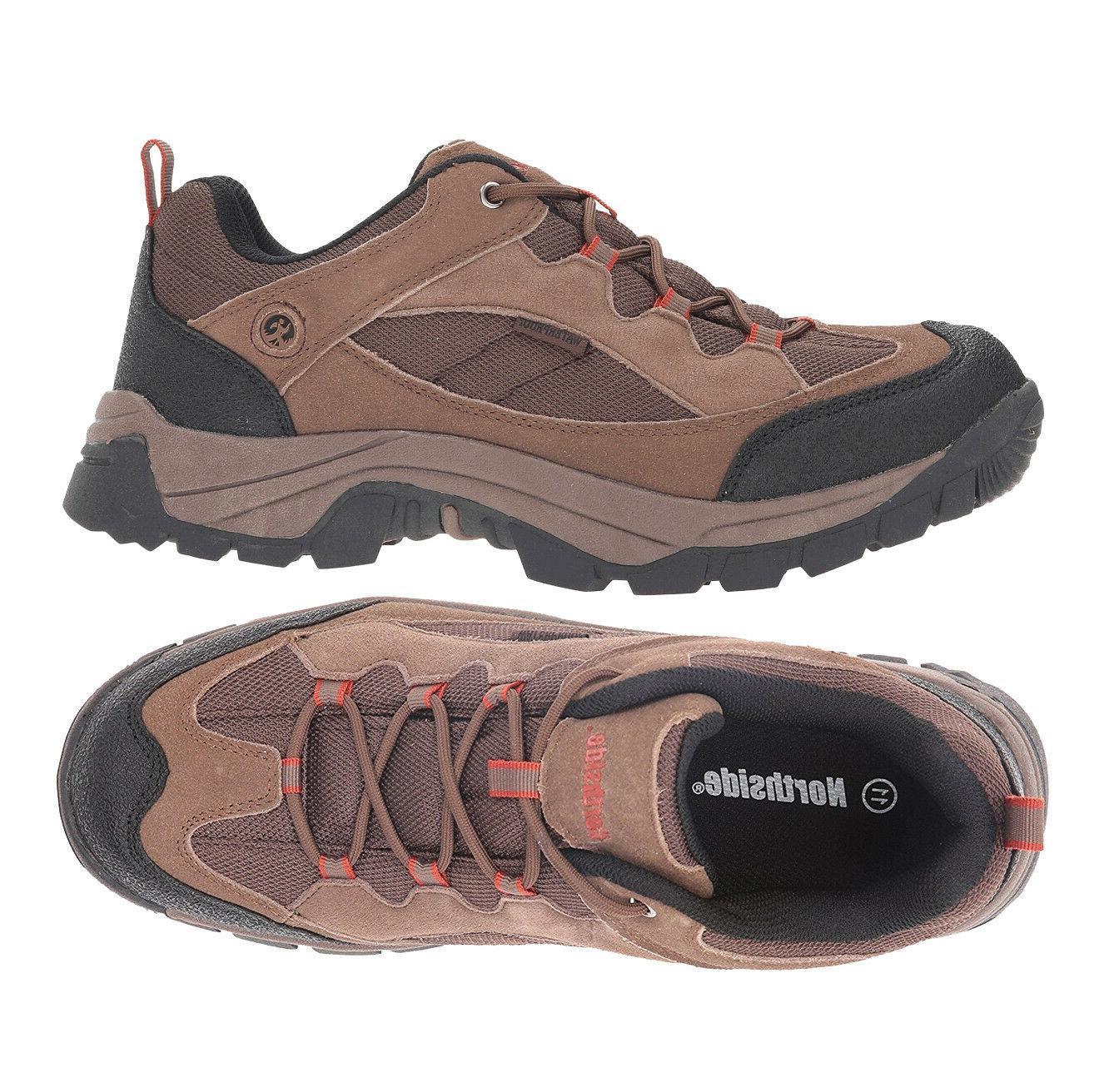Mens Shoes Waterproof Hiking Boots Brown Suede Northside Mon