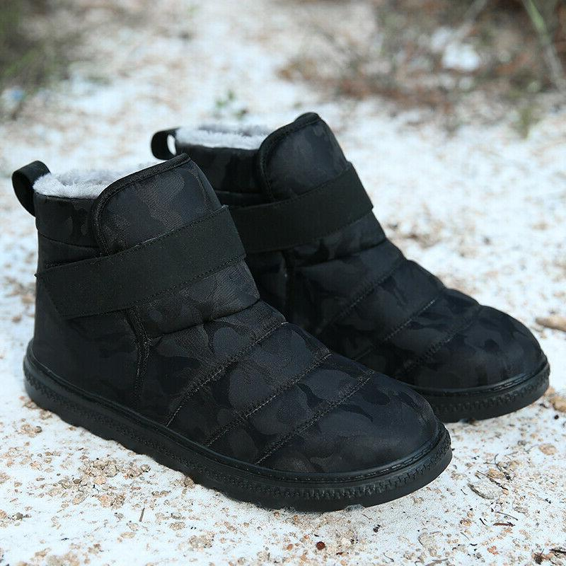 Mens Snow Lined Winter Outdoor Shoes Waterproof