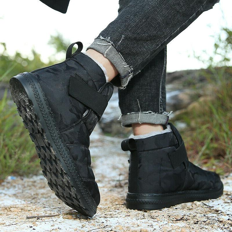 mens snow boots fur lined winter boots