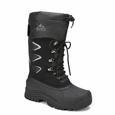 NORTIV Mens Snow Boots Water-resistant Fur Liner Winter Boots