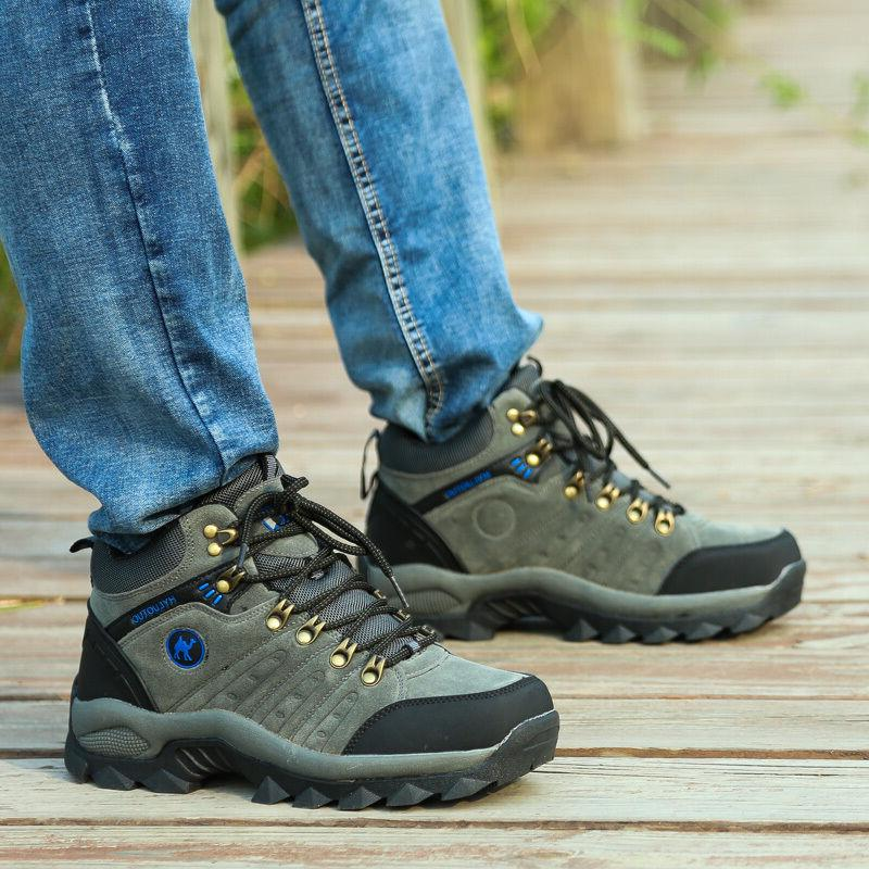 Mens Walking Hiking Waterproof Ventilated Mid high-cut