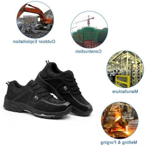Mens Work Boots Shoes Cap Sneakers