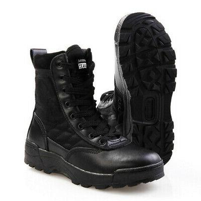 Military Tactical Forced Entry Leather Deployment Boot SWAT Boots Hiking