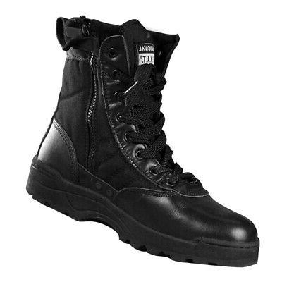 Military Tactical Forced Leather Deployment Boot SWAT Boots