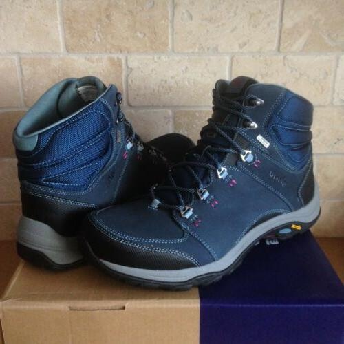 AHNU by Teva Montara III Blue Spell Leather Hiking Boots Sho