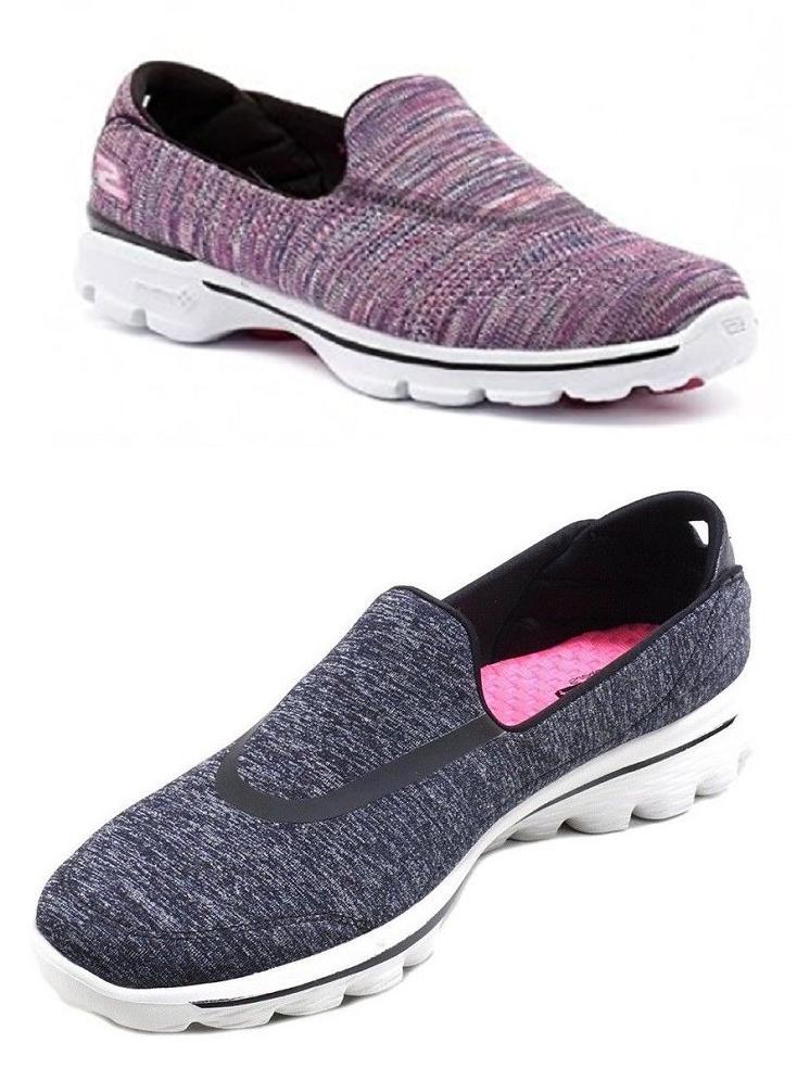 New Skechers Ladies Go Walk shoes Women's Slip on GoGa Mat T