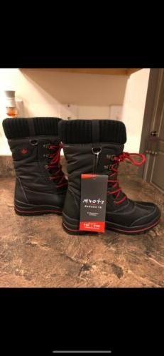 New Storm By Cougar Waterproof Black/Red Size 8 Insulated Bo