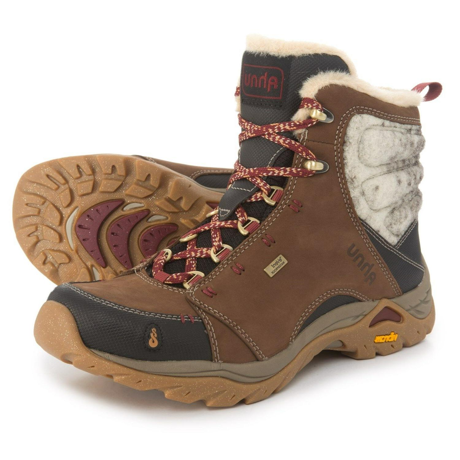 New Women`s Ahnu Montara Luxe Hiking Boots Waterproof, Insul