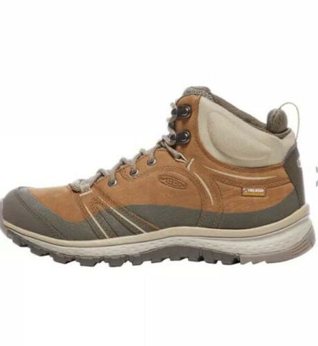 New KEEN Leather Mid Waterproof Hiking Boots Size 9.5