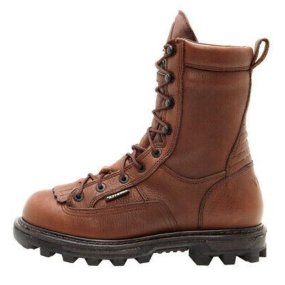 Rocky Mens Brown Leather Bearclaw 3D Goretex
