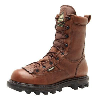 rocky mens brown leather bearclaw 3d insulated