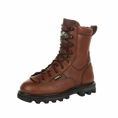 rocky mens brown leather bearclaw 600g gtx