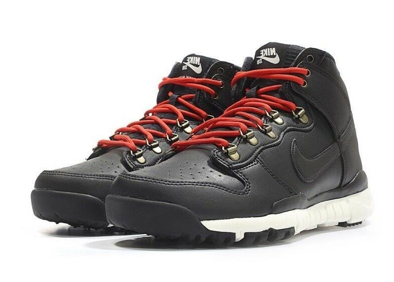 Nike SB Dunk High Black Leather