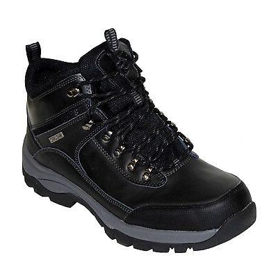 Khombu Summit Men's Leather Hiking Outdoor Tactical Black Bo