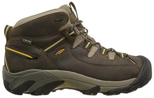 39a1212d332 KEEN Targhee Waterproof Hiking Men s Black Olive Yellow