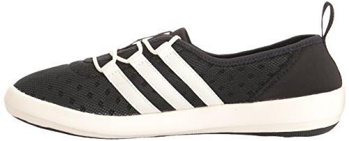 adidas Women's Climacool Boat Water Shoe, Black/Chalk White/Matte 7 M US