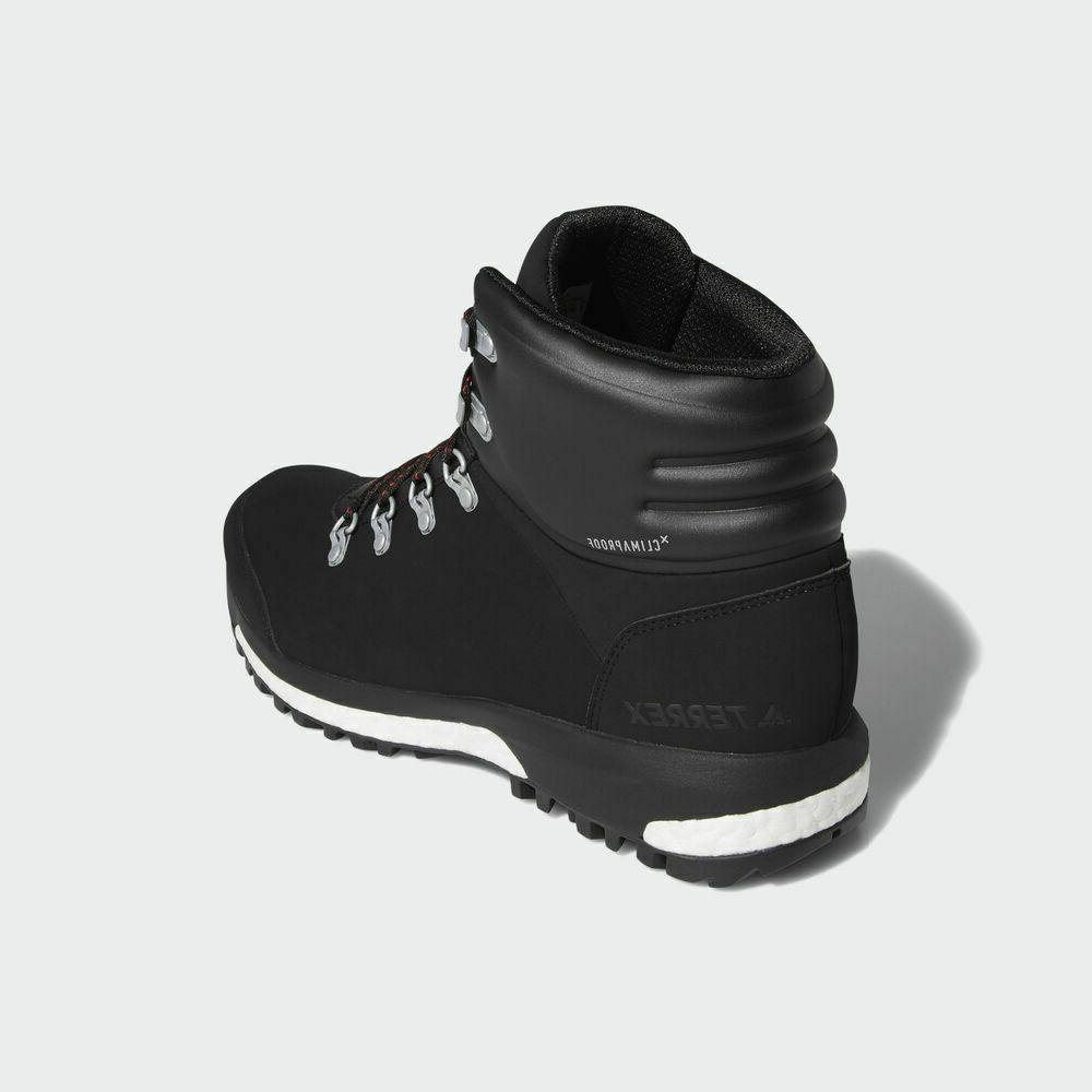 Adidas Pathmaker Waterproof Hiking Black/Scarlet/Black, New