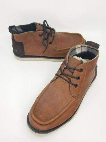 toms mens waterproof brown chukka boots shoes
