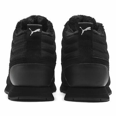 Men's Winter Hiking Shoes Leather Black