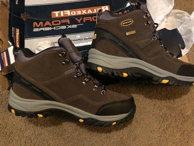 Skechers Men's Boots Khaki- Size 12- Relaxed Fit