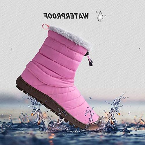 ALEADER Women's Waterproof Ankle Snow 8-8.5