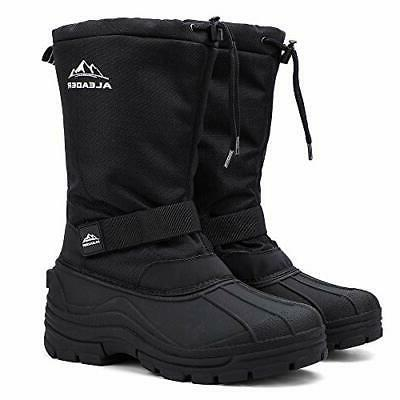 ALEADER Men, Waterproof Snow Hiking Black 7 D