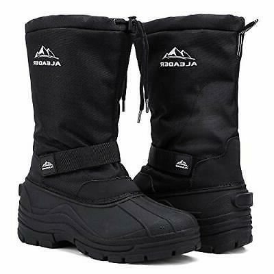 ALEADER Men, Waterproof Hiking Shoes Black D US