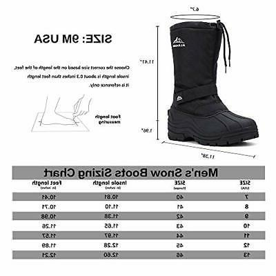 ALEADER Boots Men, Waterproof Snow Boots Hiking D