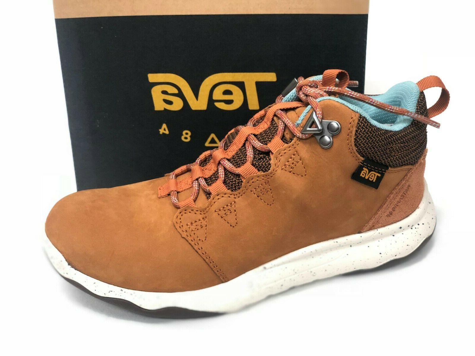 Teva Women's Arrowood Lux Mid Waterproof Cognac Hiking Boots