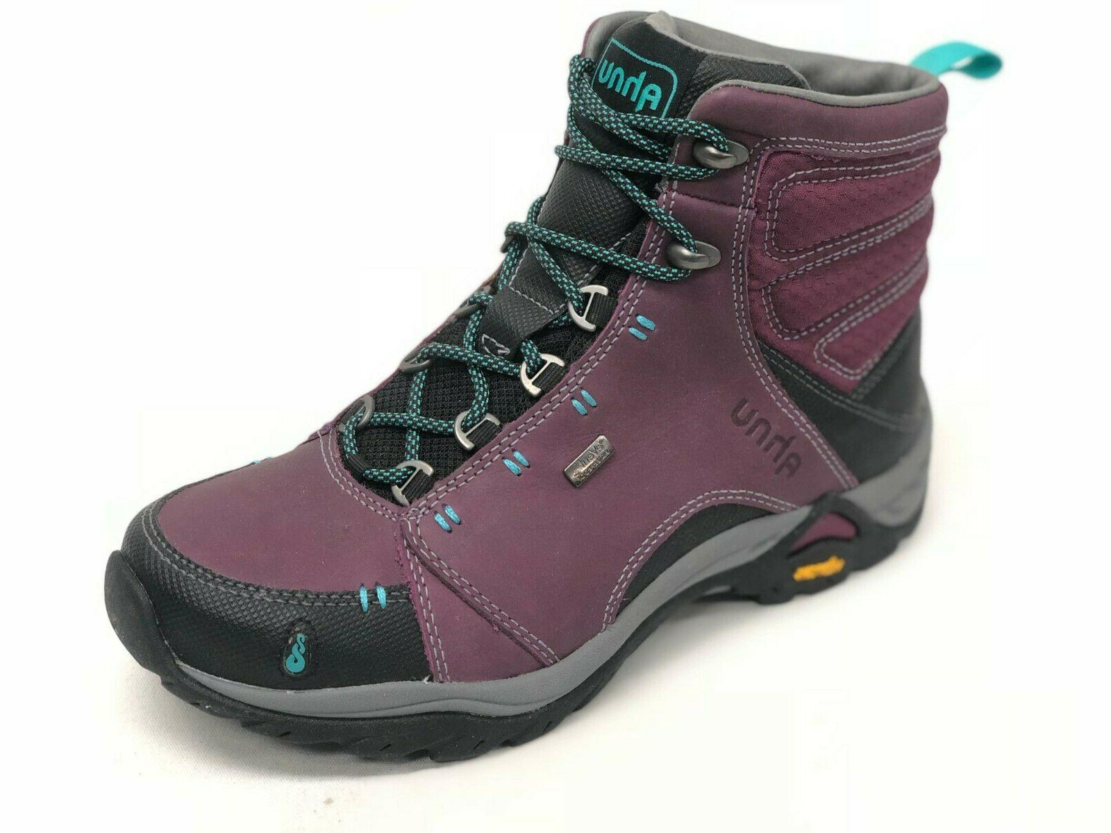 Ahnu Women's Montara Hiking Boots Waterproof Leather Magenta