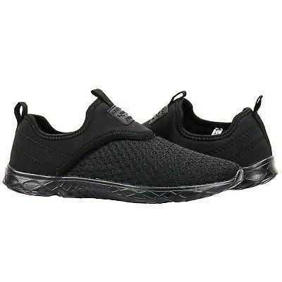 ALEADER Athletic Water Shoes Black/Black 8.5 D US US