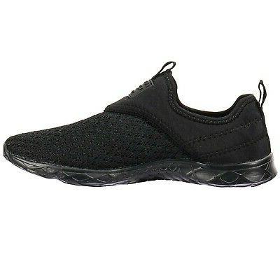 ALEADER Women's Athletic Water Shoes Black/Black D US