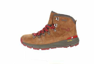 womens mountain 600 brown red suede hiking