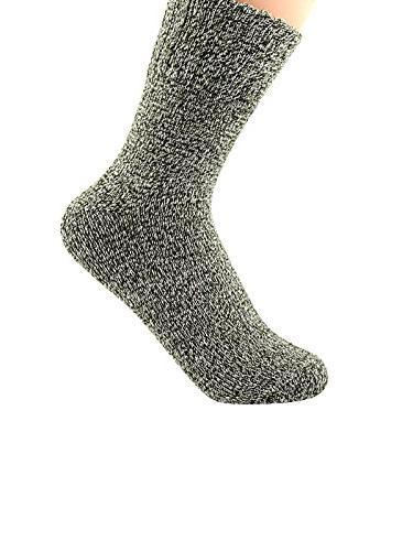 Zando Thick Knitting Socks Winter Warm Cotton Crew Socks Pack Vintage Solid Size 6-11