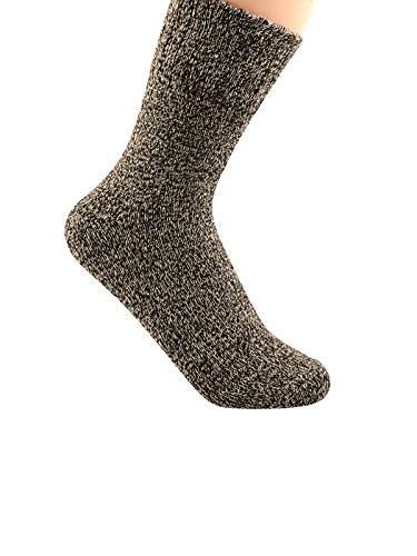 Zando Womens Thick Knitting Winter Autumn Warm Cotton Crew Socks 5 Pack 5 Vintage Solid Shoe 6-11