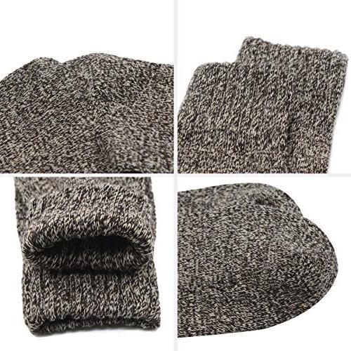 Zando Womens Thick Winter Cotton Socks Pack 5 Pack Vintage Shoe 6-11