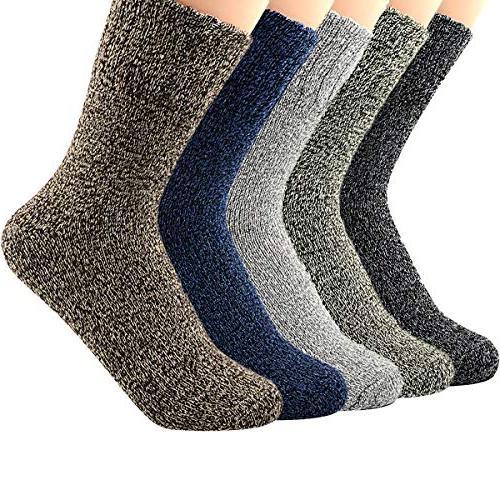 womens vintage casual thick knitting wool socks