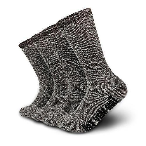 wool thermal thick hiking crew